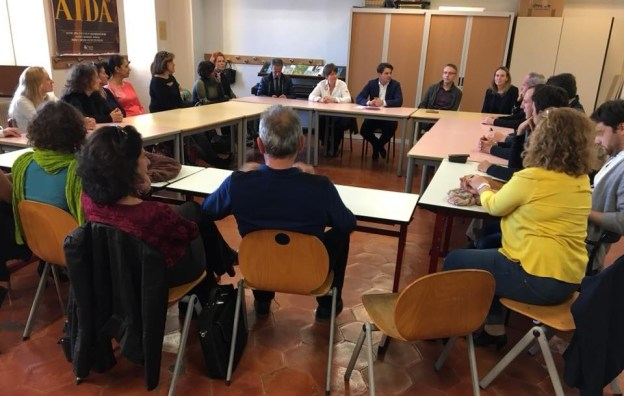 Moment d'échanges avec les professeurs du Conservatoire de musique de Grasse