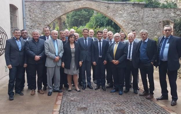 ginesy et les maires du Pays grassois