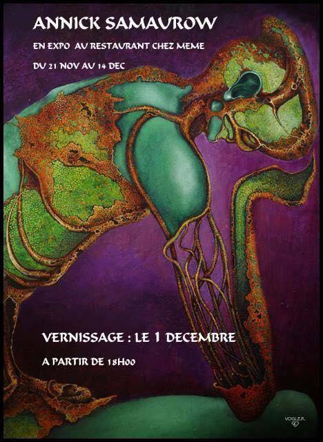 Vernissage de l'exposition de l'artiste peintre Annick Samaurow 02