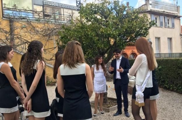 Matinée culturelle pour nos candidates à l'élection de Miss Grasse 01