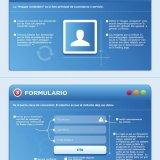 Infografíca de la estructura de una Landing Page publicado por bluecaribu