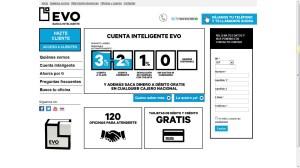 Portada del website EVO Banco en 2012