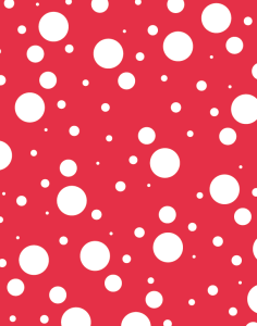 Solar Circles pattern - red