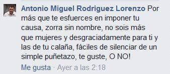 Antonio Miguel Rodríguez Lorenzo machista sexista