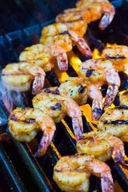 Debonair Honey Garlic Sauce Jessica Gavin How Long To Grill Shrimp On Charcoal How Long To Grill Shrimp On Gas Grill Flame Grilled Shrimp Skewers Grilled Shrimp Cooking On A Barbecue