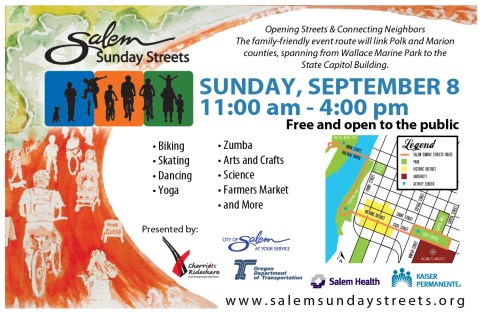 Salem Sunday Street Illustration