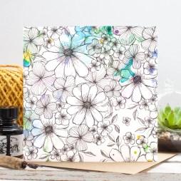 Watercolour Bouquet Gift Card-Edit-Jessica Wilde Design 2016 ©