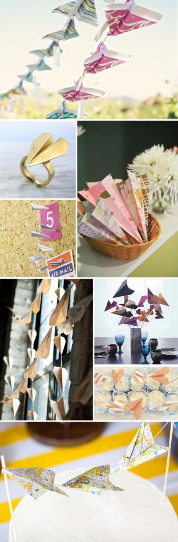Paper Airplane Destination Wedding Ideas - The Destination Wedding Blog - Jet Fete by Bridal Bar