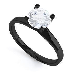 Black Gold Engagement Ring