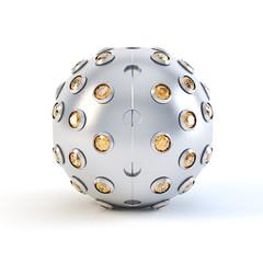 Orange Matte sphere trinket