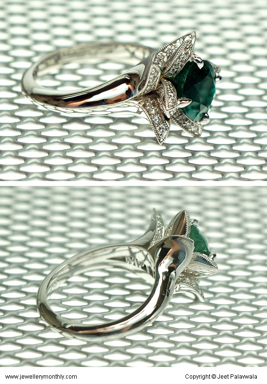 Lotus Blossom Gemstone rings by Jeet Palavwala India