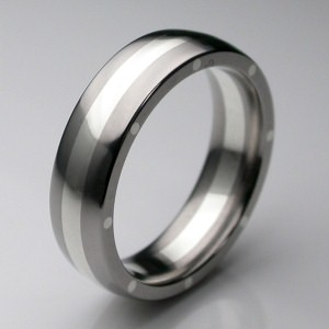 two tone designer wedding ring