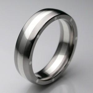 two tone designer wedding ring