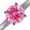pink diamond solitaire