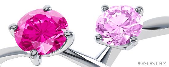 Pink sapphires and diamonds