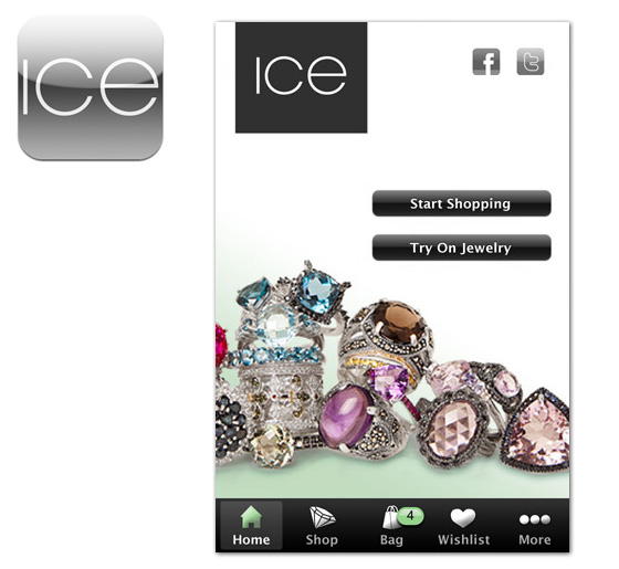 Ice jewelry iphone application