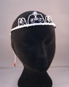 white auartz tiara