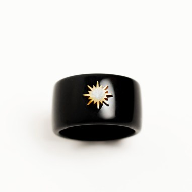 black ring with sun