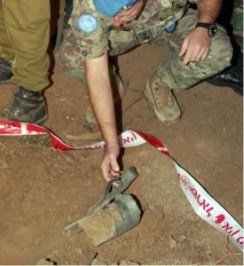 Katyusha fragment that landed in Kiryat Shmona, Oct. 2009 (archive photo)
