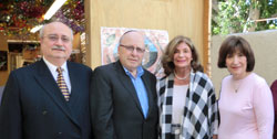 (L-R) L.A. County Commissioner Howard Winkler; Stanley Treitel; Rep. Shelley Berkley; and Barbara Treitel at L.A. sukkah reception.