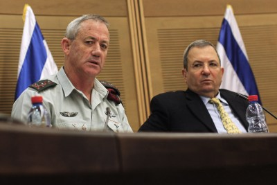 .IDF Chief of General Staff Lt.-Gen. Benny Gantz and Defense Minister Ehud Barak