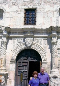 Dov and Barbara at the Alamo.
