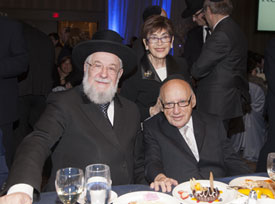 The Rothschilds with Rav Lau.