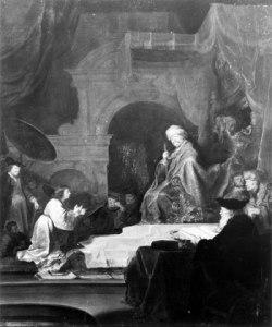 "Salomon Koninck. ""Daniel Interpreting Nebuchadnezzar's Dream."" 1655."