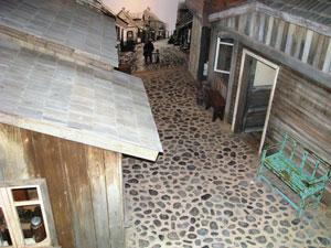 Shtetl installation. South African Jewish Museum, Cape Town. Photo: Menachem Wecker.