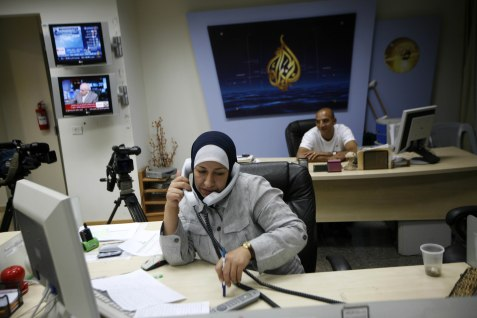 Behind the scenes at al Jazeera