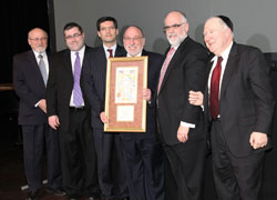 Dr. Simcha Katz, Rabbi Steven Burg, Rabbi Steven Weil, Rabbi Shraga Gross, Paul Glasser, Dr. David Luchins