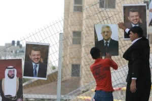 Pictures of King Abdullah of Jordan and PA President Mahmoud Abbas