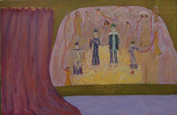Spanish Inquisition  Voice of the Victims (2002), oil on canvas by Leah Ashkenazy
