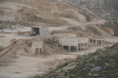 An Illegal Quarry in Judea and Samaria