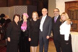 (L-R) Ayala Naor; Naomi Mark; Rivki and Sammy Mark; and Dr. Richie and Ellen Katz.