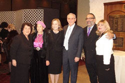 (L-R) Ayala Naor; Naomi Mark; Rivki and Sammy Mark; and Dr. Richie and Ellen Katz.