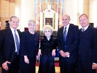(L-R) Andrew Friedman; Wendy Greuel; Rebbetzin Jungreis; Lee Baca; and Wolfgang Drautz.