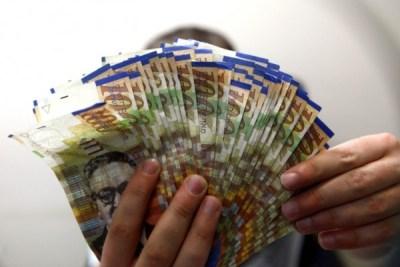 Israeli shekels.