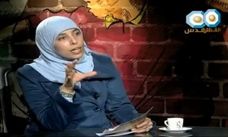 Ahlam Tamimi on her 'Al Quds' talk show