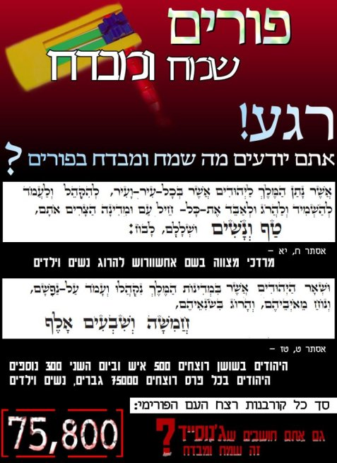 Anti-Purim internet pamphlet