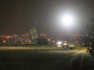 "An ""Iron Dome"" short-range missile defense system deployed near the port city of Ashdod."
