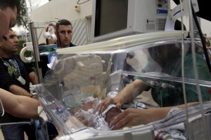 Premature baby in Barzili hospital