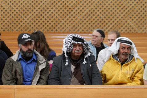 Arab spectators at the Israeli High Court&#039;s hearing on Peace Now&#039;s petition to immediately evict the residents of Migron.