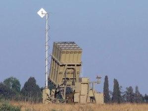 Iron Dome launcher deployed next to Sderot.