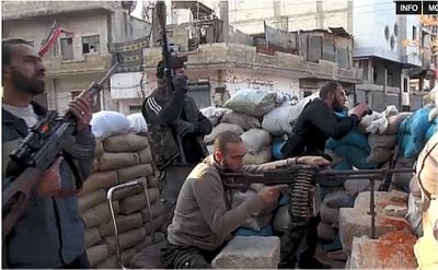 Free Syria Army fighters in Baba Amr