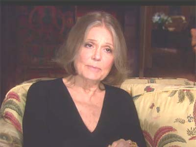 Women&#039;s rights advocate Gloria Steinem.
