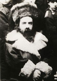 "Bilograyer Rav zt""l, father of today's Belzer Rebbe."