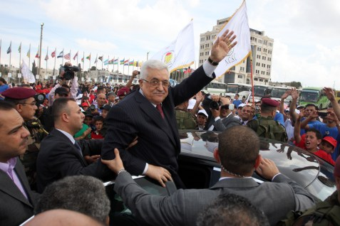 Palestinian Authority President Mahmoud Abbas in Ramallah, October 1, 2011.