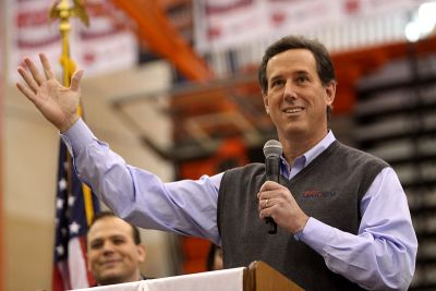 Republican Presidential hopeful Rick Santorum