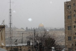 Snow over the Temple Mount